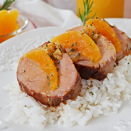 Filet de Porc à l'Orange, Romarin et Érable