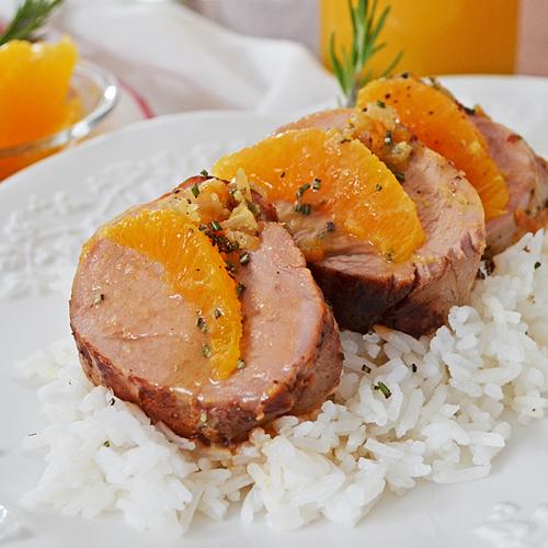 Filet de Porc à l'Orange, Romarin et Érable