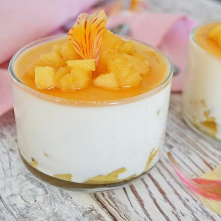 Panna Cotta au Yogourt et Pommes à l'Érable