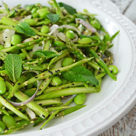 Salade d'Asperges Crues et d'Edamames