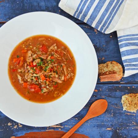 Soupe Lentilles et Bulgur aux Saveurs Marocaines
