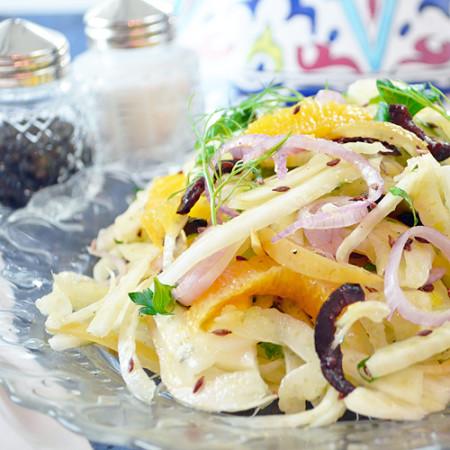 Salade de Fenouil, Orange et Citron Confit