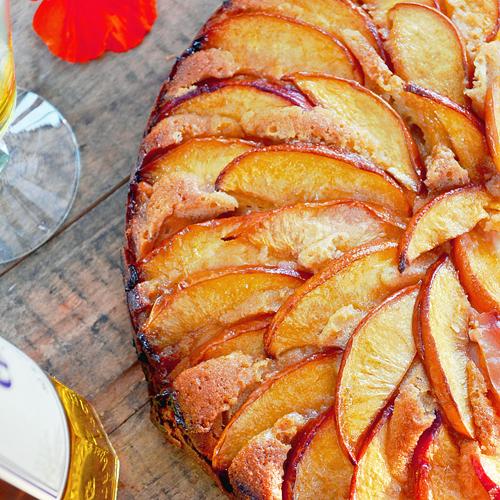 Gâteau à la Nectarine et Fromage à la Crème