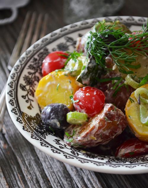 Salade de Pommes de Terre Grelot et Courgettes à l'Aneth