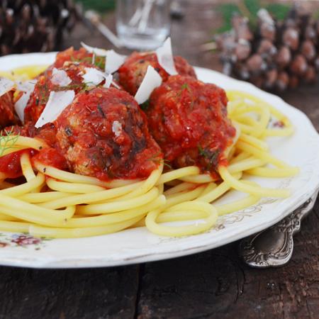 Boulettes de Viande au Fenouil et à la Sauce Tomate