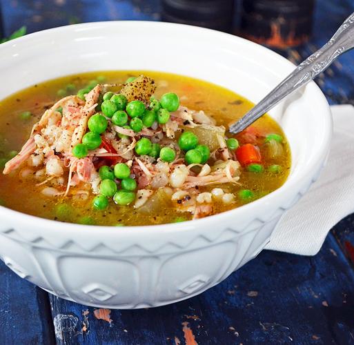 Soupe la dinde orge et l gumes - Soupe de legume maison ...