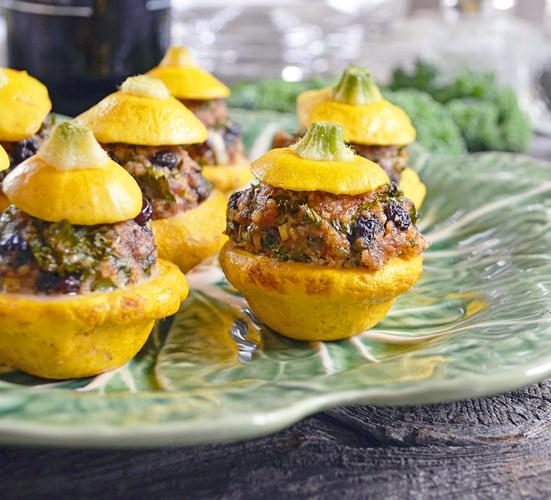 Mini-Pâtissons Farcis à l'Agneau, Chou Kale et Couscous