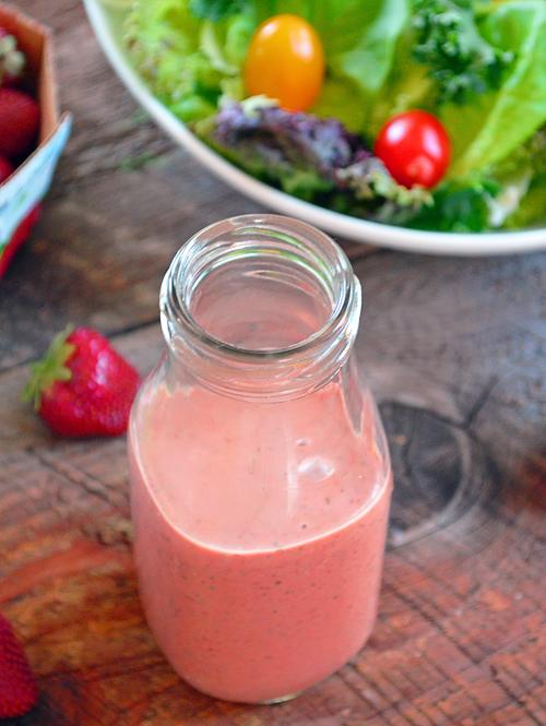 Vinaigrette la fraise et au basilic for Fraise pour perceuse dijon
