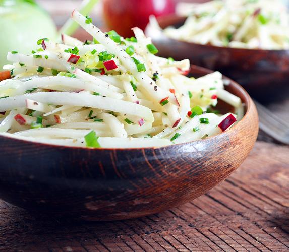 Salade lentilles chou rave remoulade de chou rave - Cuisiner le choux rave ...