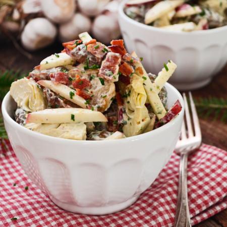 Salade de Topinambours, Artichauts et Pommes